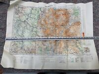 Original WW2 British Army RAF Map 1942 Dated Map of Abyssinia