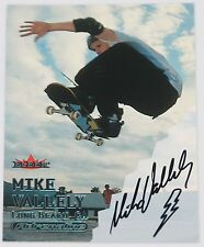 SIGNED 2000 FLEER ADRENALINE MIKE VALLELY AUTO SKATEBOARDER AUTOGRAPHED