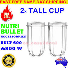 2 NUTRIBULLET TALL LARGE CUP (24OZ) - SUITS All 600/900W Nutri Bullet Models AU
