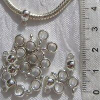 20 BELIERES 9MM x 4MM METAL ARGENTE CLAIR ANNEAU bracelet collier breloque *E198