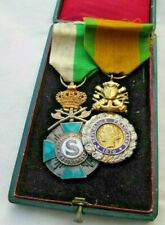 Unusual  Pair Belgian(French) Named  Medals. To A Sergeant Musician of the Town
