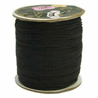 Nylon Thread for Custom Woven Jewelry Making Black 0.8mm 120m/roll DIY Sewing