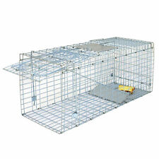 "Animal Trap | 32""x12.5""x12&#0 34; Large Steel Cage Spring Loaded Humane Rodent Possums"