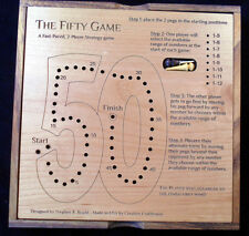The Fifty Game –2 person strategy game; fun, easy, but tricky!