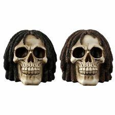 Gothic Rasta Skull Ornament Fantasy Boxed