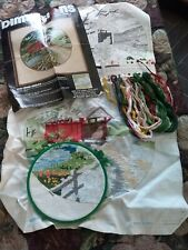 Never Finished Dimensions Cross Stitch Old Creek Bridge Kit Contents To Complete
