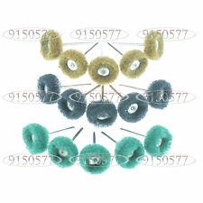 15x Polisher Buff Abrasive Buff / Polishing Wheel Set For Rotary Tools 3mm Shank