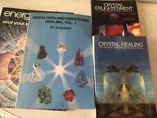 New Age Books Lot Crystal Healing Chakra Gems Vintage Lot of 4
