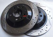 Fits Mazdaspeed 3 Drill Slot or Slot Brake Rotors Premium Grade Rear Pair