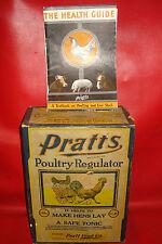 1920's pratts poultry regulator Food 12lb box advertising sign medicine Booklet