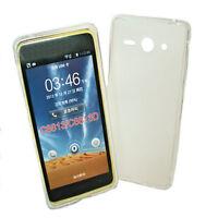 Dark Case Silikon TPU Cover Foggy + Displayschutzfolie für Huawei Ascend Y530