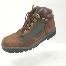 Timberland Kids Field Boots Brown Suede Olive Lace Up Ankle Sz 4.5 16937
