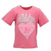 Oakland Athletics MLB Genuine Infant Toddler Girls Size Pink T-Shirt New Tags