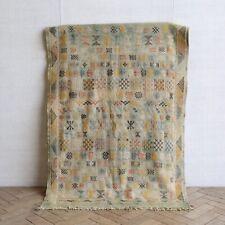 Vintage Moroccan Cactus Silk Kilim Rug 136 x 85cm