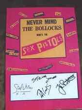 Sex Pistols Never Mind the Bollocks Legends of Punk Signed A4 Print