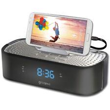 Groov-e GVSP406BK TimeCurve Alarm Clock Radio With USB Charging Station Black