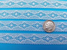 "French Heirloom Cotton Lace Insertion5/8"" Wide White Fashion/Craft/Doll Lace 858"