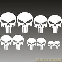 Punisher Sticker 10 x the Punisher Totenkopf Aufkleber skull Spiegel Hardcore