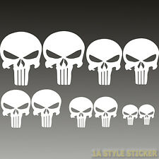 Punisher Sticker 10 x the Punisher Totenkopf Aufkleber skull Spiegel Hardcore