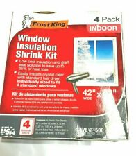 "Frost King Window Insulation Shrink Kit Film up to 42"" W x 62"" H 4 Pack"