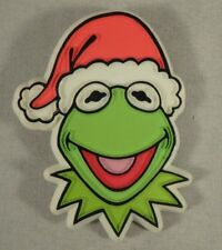 1979 Kermit the Frog Santa Claus Holiday Christmas Pin Jim Henson The Muppets