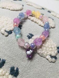 Hello Kitty Bracelet Sanrio 2003 Charm Candy Purple Bear TARINA Tarantino