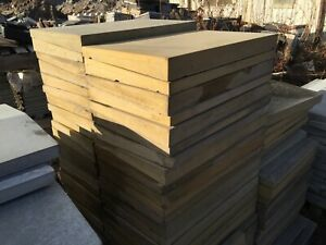 Concrete Coping Stones - 30nr - Buff - 375 x 600mm - Single Weathered