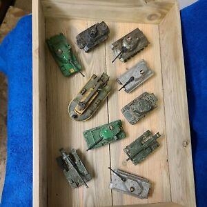 Vintage job lot corgi dinky matchbox tanks