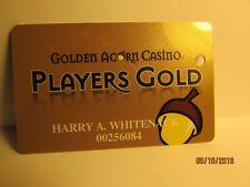Golden Acorn Casino- Casino Players Card- So. Calif.- mint