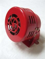 1950s 12v Car Truck Motorcycle Driven RED Air Raid Siren Horn Alarm 50's