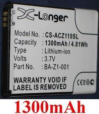 Batería 1300mAh Para ACER Liquid Z110, Z120, Z2 Duo, tipo BA-Z1-001 BA-Z1-003