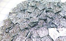 """110 Mosaic Tiles 1/2"""" GYPSY SILVER TX MIRRORS MIRROR Premium Stained Glass"""