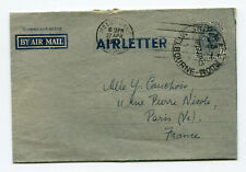 Australia 1949 Airletter rare stationery cover to France