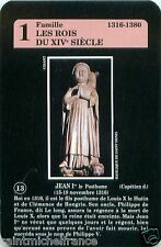 Jean Ier I 1er le Posthume ROI FRANCE PLAYING CARD CARTE A JOUER