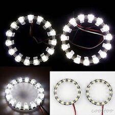 2X 90MM SMD LED Angel Eyes Daytime Running Light Halo Ring Bulbs Lamps white
