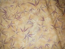 Brown tone leaf print cotton fabric/material - Fat quarter