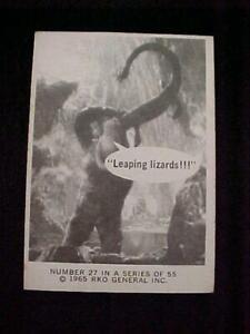 VINTAGE 1965 DONRUSS RKO KING KONG CARD #27
