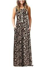 AUSELILY Women's Summer Sleeveless Loose, Spotted Pattern Leopard, Size XX-Large