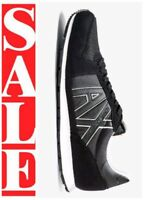 ARMANI EXCHANGE A|X LOGO Mens Retro Low Top Trainers Sneakers MDNIGHT BLACK $125
