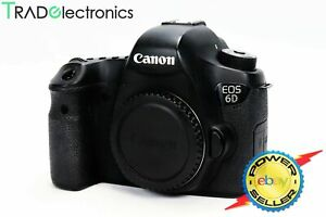 (👍Great)Canon EOS 6D DSLR camera 20MP EF Mount Full Frame Wifi/GPS 1080p Video
