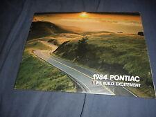 1984 Pontiac Fiero Firebird Trans Am 46 Page Catalog Brochure Prospekt
