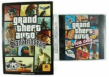 Vintage Grand Theft Auto Vice City & San Andreas PC Game Lot