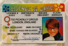 Austin Powers Mike Myers Movie Id Drivers License To Shag Swinger Spy Mystery