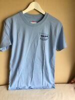 Light Blue Mens Cotton Company Advertising Pest Control Tshirt Small