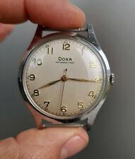Nice Vintage Doxa Antimagnetique 1953 BIG 38mm Swiss Watch TOP Condition