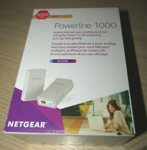 NETGEAR Powerline 1000 PL1000 Network Extender 1000 Mbps 1 Gigabit Port