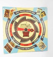 Werbe Pappe Schilling Kaffee Bremen Drehuhr Werbespiel Reklame !