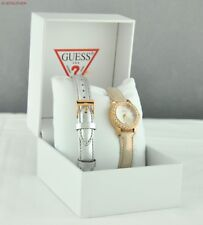 FREE Ship USA Chic Ladies Watch GUESS 2in1l Leather Stainless Steel Women Lovely