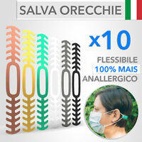 10 Fascette Salva Orecchie per Mascherina Flessibili e Anallergici - Eleganti