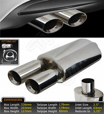 UNIVERSAL PERFORMANCE FREE FLOW T304 STAINLESS EXHAUST BACK BOX YFX-0701 SZK